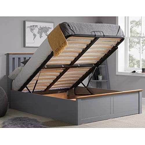 Happy Beds Phoenix Stone Grey Wood Modern Bed- Price Tracker