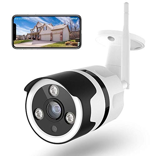 Netvue Outdoor Security Camera 1080P Waterproof Wireless WiFi Bullet Camera IR Night Vision Survinence System Works with Alexa, Two Way Audio, AI. Human Detection, Support up to 128G SD Card- Price Tracker