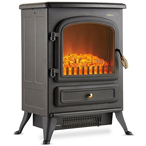 VonHaus Electric Stove Heater with Log Burner Flame Effect Fireplaces – 1850W- Price Tracker
